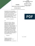 Coalition of Concerned Citizen v. Federal Transit, 10th Cir. (2016)