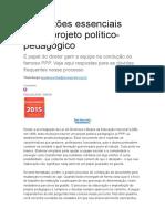 8 Questões Essenciais Sobre Projeto Político