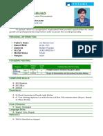 CV of Amjad Jan