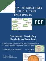 Nutricion, Metabolismo y Reproduccion Bacteriana