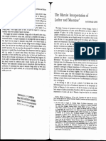 The Marxist Interpretation of Luther and Muentzer - Bernhard Lohse