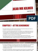 Dear Mr Kilmer