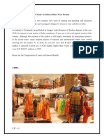 A Study on Indian Ethnic Wear Brands