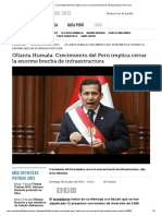 Ollanta Humala_ Crecimiento Del Perú