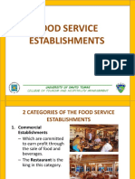 3 Types of Food Service Establishments
