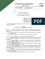 Lei Nº 2480 - Dispõe Sobre o Plano de Cargos, Carreira e Remuneração Dos Servidores Municipais
