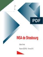 Formation Géodésie INSA-Strasbourg Ferhat 2015