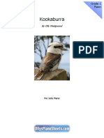 Kookaburra Piano Sheet Music