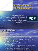 Dr. Growth and Development of Adolescence