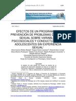 Efectos de Un Programa de Prevención. 2012. Vol15No3