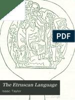Isaac Taylor - Az Etruszk Nyelv - The Etruscan Language 1876
