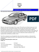 2001 Volvo S80 Owners Manual