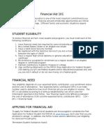 financial aid 101   020217