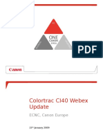 Colortrac CI40 Webex Update