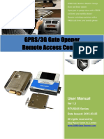 RTU5025 GPRS 3G Gate Opener User Manual V1.5