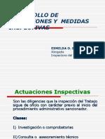 Desarrollo de Actuaciones y Medidas Inspectivas
