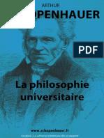Arthur Schopenhauer-la Philosophie Universitaire
