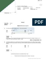Vidyamandir Admission Test