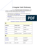 Irregular Verb Dictionary Completo