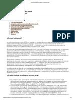 Guía Clínica de Parámetros de Función Renal