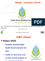 Green Buildings Lessons Learnt IGBC