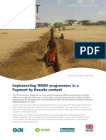 Implementing WASH Programmes in a Payment by Results Context