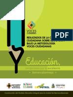 Resultados Voces Ciudadanas Barranca