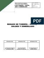 37.- Regado de Tuberia, Corte, Soldeo y Esmerilado
