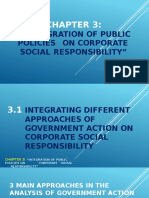 INTEGRATION OF PUBLIC POLICIES ON CORPORATE SOCIAL RESPONSIBILITY