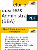 Texila Zambia's Bachelor of Business Administration Presentation