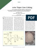 FCC Reactor Vap Line Coking