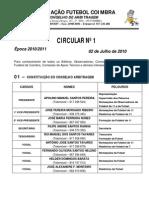 CIRCULAR Nº1 2010 - 2011 AFC