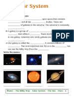 The Solar System- Worksheets