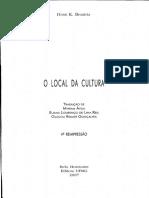 BHABHA, Homi K.  A Outra Questão. In _______. O Local da Cultura. Cap. III, p. 105-128..pdf
