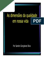 dimensões qualidade - Vicente Falconi Campos