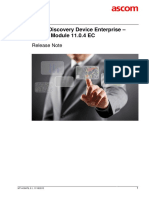 TEMS Discovery Device Enterprise 11.0.4 EC Release Note