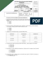 Diagnostico Matematicas Grado 5