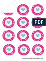 Cup Cake Toppers_corazon
