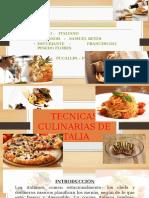 Tecnicas Culinarias de Italia