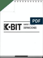 K Bit Definiciones