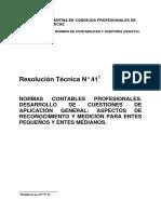 Resolución Técnica Nº 41