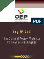 5 Ley N° 243 Ley contra el Acoso y Violencia Política Hacia las Mujeres