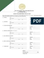 Money Transmitter Contact List