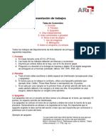 Formas Para La Presentación de Trabajos ARTE UIA
