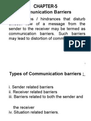 Communication Barriers   Communication   Epistemology