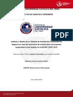 Canchari Stephany Sistema Gestion Sismos Empresa Aseguradora Iso Iec 22301 2012