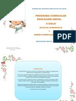 Dise u00f1o Curricular y Rutas de Aprendizaje en El Nivel Inicial