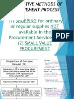 Alternative Procurement Process