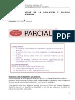 2º Parcial de H. y Pol Educacional (Consignas)