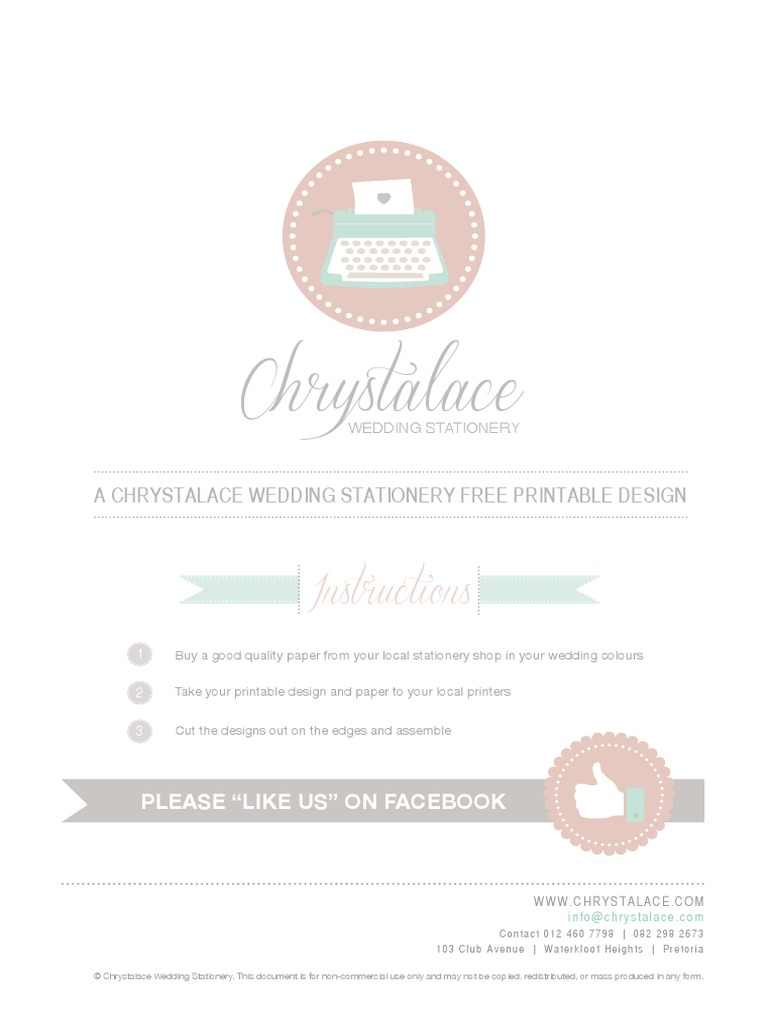 chrystalace wedding stationery free printable wedding planner blue